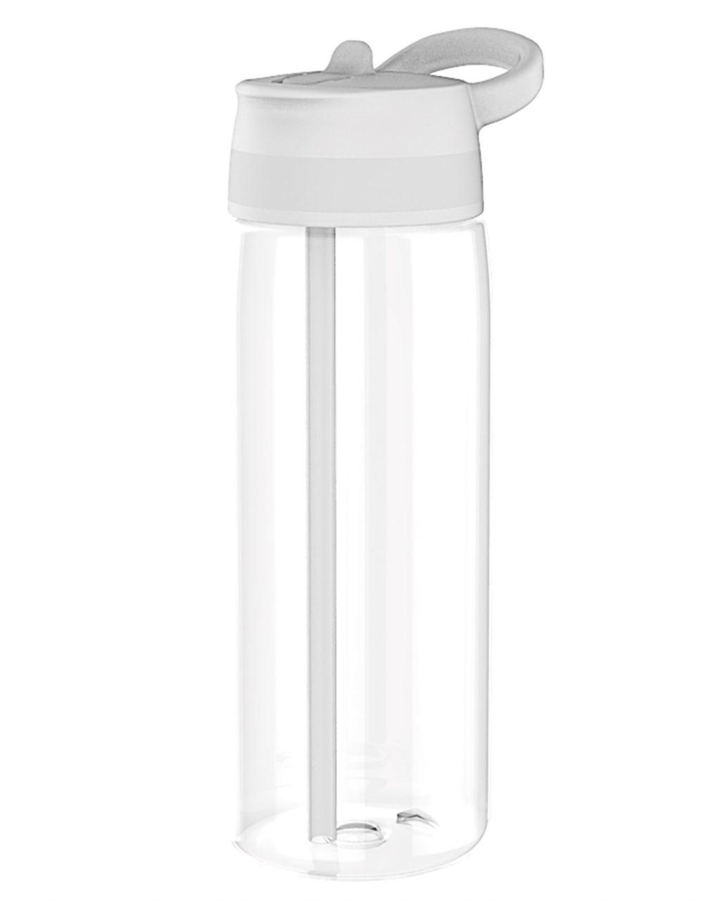 Trinkflasche Sprint m. Trinkhalm 75cl, weiss | Krüge, Flaschen ...