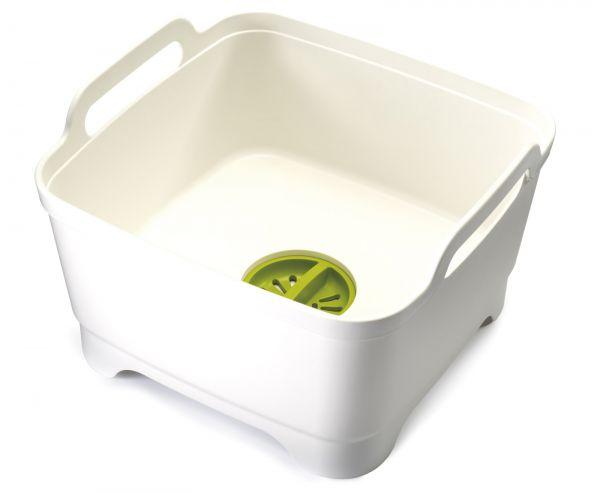 Wash&Drain Waschbehälter weiss/grün