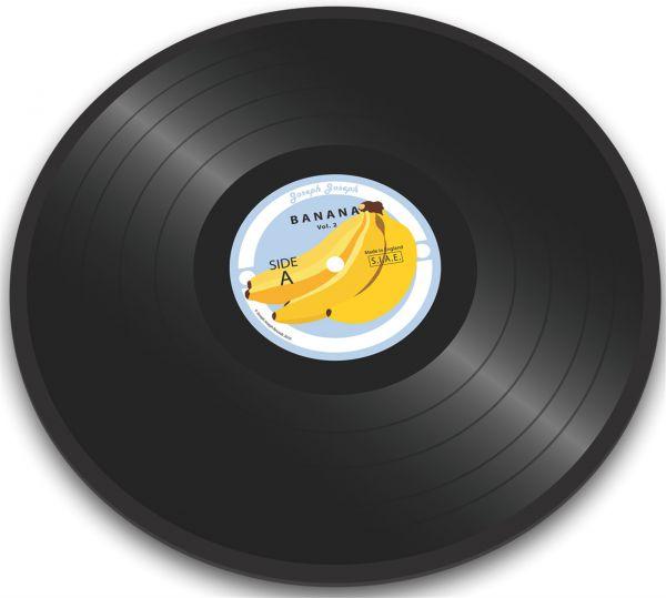 Glasschneideplatte Vinyl Banana Ø30cm