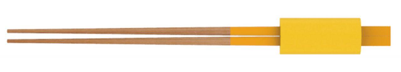 Essstäbchen Set mit Stäbchen Bank, 24 cm, gelb