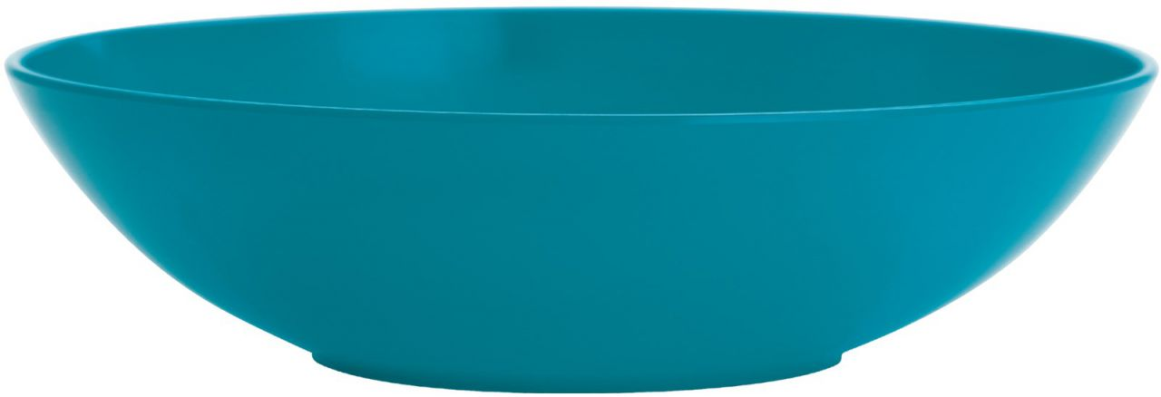 BBQ Teller tief aqua blau 21 cm